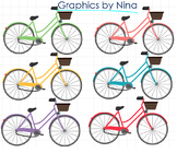 Colorful Bicycle Clipart