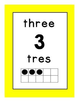 Colorful Bilingual Numbers 1-20