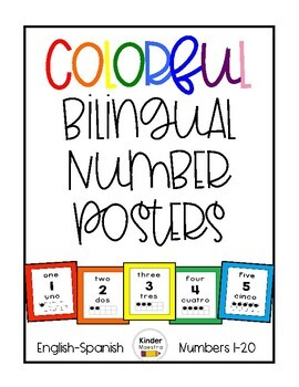 Colorful Bilingual Numbers 1-20