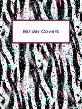 Colorful Binder Covers!