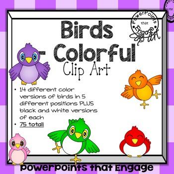Colorful Birds Clip Art