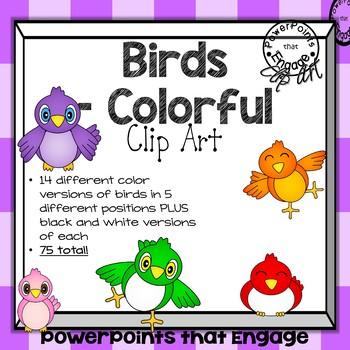 Colorful Birds Clip Art