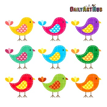 Birds colorful. Clip art great for