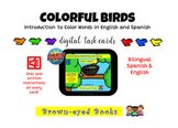 Colorful Birds Introduction to Color Words English & Spani