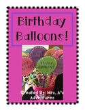 Colorful Birthday Balloon Bouquet & Birthday Cards!