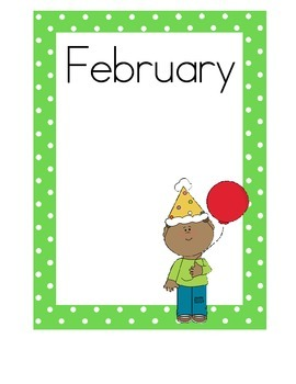 Birthday Charts, Cute and Colorful Polka Dots!