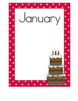Birthday Charts, Cute and Colorful Polka Dots!