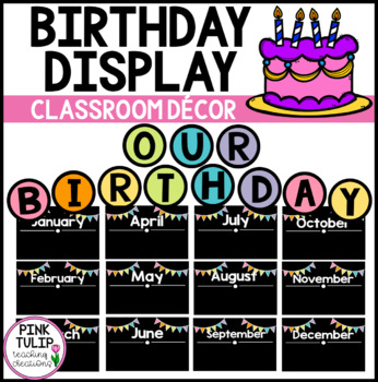 Colorful Birthday Display for the Classroom