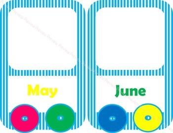 Colorful Birthday Train Posters {CLASSROOM DECOR}