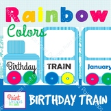 Colorful Birthday Train Posters {CLASSROOM DECOR}