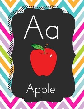 Colorful Blackboard ABC Chant