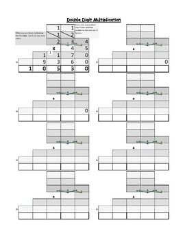Double Digit Multiplication Printable