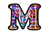 Colorful Bokeh Bulletin Board Letters, Numbers and Symbols, Celebration Decor