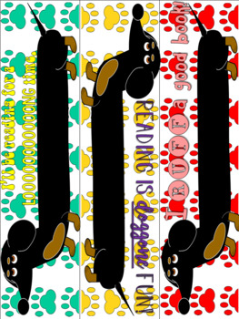 Colorful Bookmarks- Includes Black and White Copies for COLORING FUN!