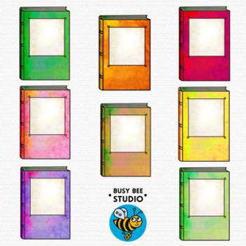 Colorful Books Clip Art