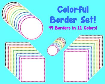 Colorful Border (and Frames) Set!