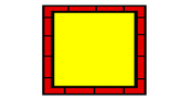 Colorful Borders & Frames-Red Brick Trim