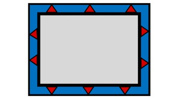 Colorful Borders & Frames-Red, Yellow, Blue Series