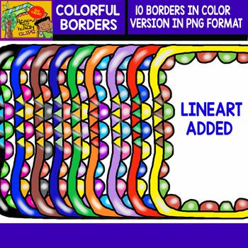 Colorful Borders - Set #1