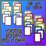 Colorful Borders and Frames (BW and full-color PNG images)