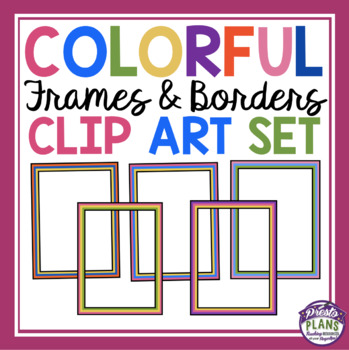 COLORFUL BORDERS AND FRAMES