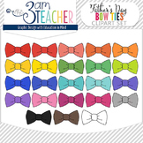 Colorful Bow Tie Clipart Set