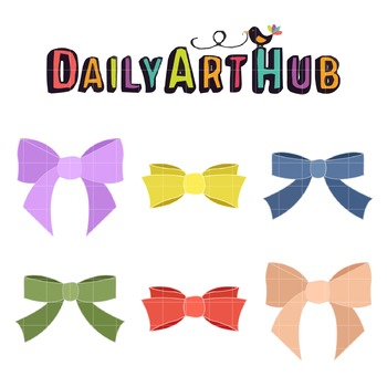 Colorful Bowties Art Clip Art - Great for Art Class Projects!