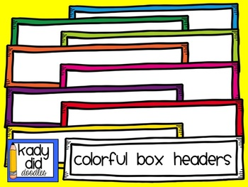 Colorful Box Headers {Kady Did Doodles}