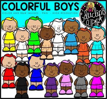 Colorful Boys Clip Art Bundle {Educlips Clipart}