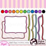 Colorful Bracket Frames Clipart / Doodle Clip Art
