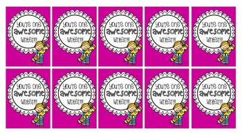 Colorful Brag Tags
