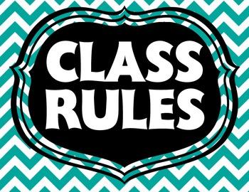 Colorful Bright Chevron Class Rules