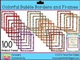 Colorful Bubble Borders and Frames {Digital Clip Art}