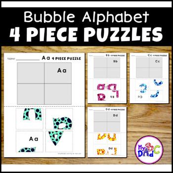 Alphabet Bubble Letter Puzzles