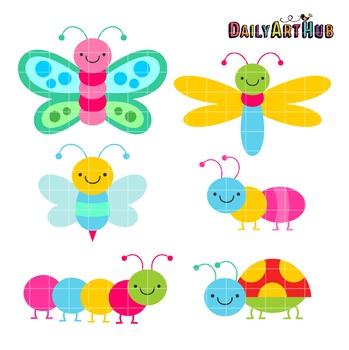 Colorful Bugs Clip Art - Great for Art Class Projects!