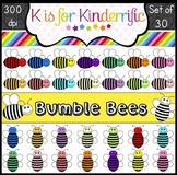 Colorful Bumble Bee Clip Art