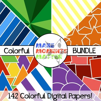 Colorful Bundle - Digital Paper Pack BUNDLE