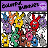 Colorful Bunnies Clipart
