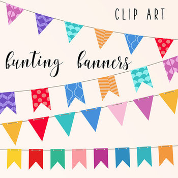 Colorful Bunting Banners Clip Art