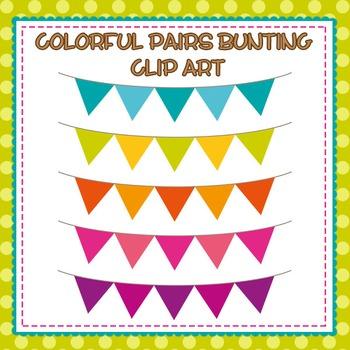 Colorful Bunting Flag Banners Clip Art