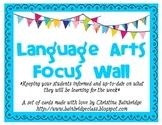Colorful Bunting Language Arts Focus Wall Headers