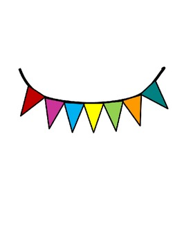 Colorful Bunting for Personal or Commercial Use