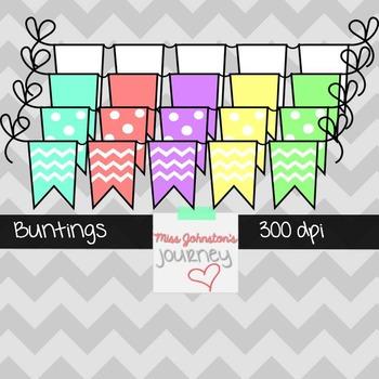 Colorful Buntings {freebie}