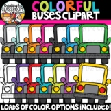 Colorful Bus Clipart {Sellers Clipart}
