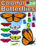 Colorful Butterflies Clip Art