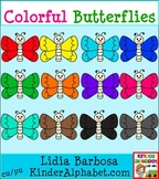 Colorful Butterflies {Clip Art for Teachers}