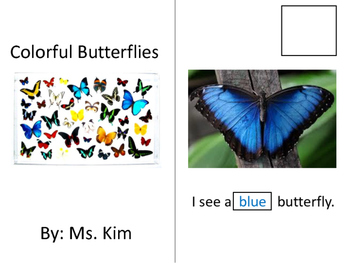 Colorful Butterflies Interactive Book