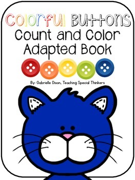 Colorful Buttons Count and Color Adapted Book