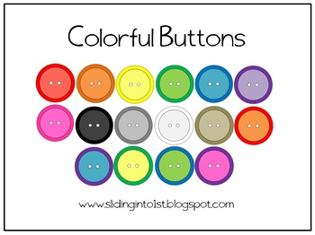 Colorful Buttons {clipart}