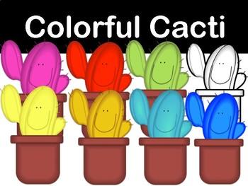 Colorful Cactus Clip Art